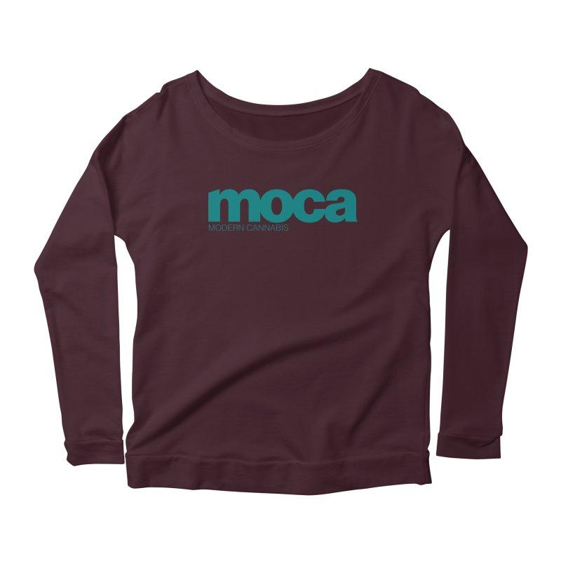 MOCA Logo Women's Longsleeve Scoopneck  by MOCAshop's Artist Shop