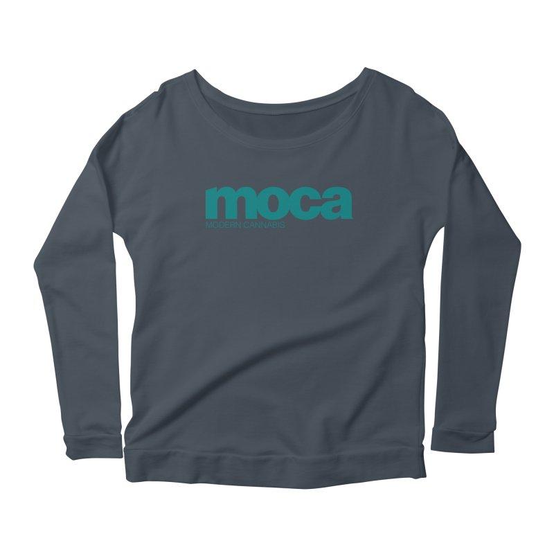 MOCA Logo Women's Scoop Neck Longsleeve T-Shirt by MOCAshop's Artist Shop