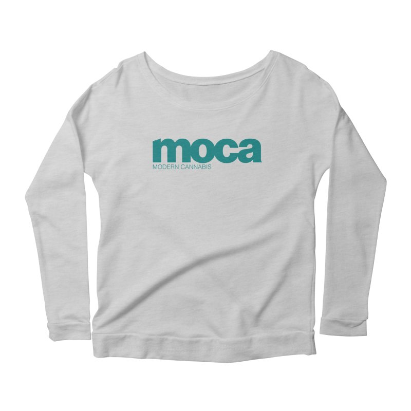 MOCA Logo Women's Scoop Neck Longsleeve T-Shirt by MOCA
