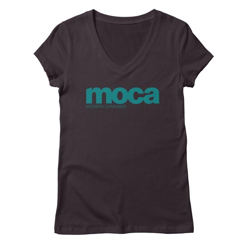 MOCA Logo Women's Regular V-Neck by MOCAshop's Artist Shop