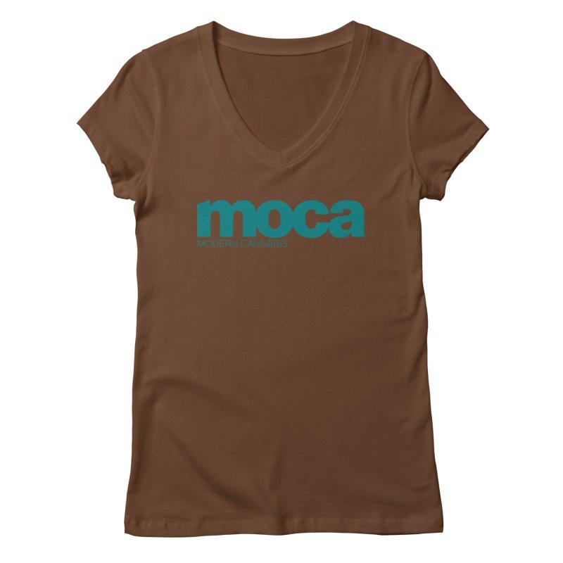 MOCA Logo Women's Regular V-Neck by MOCA