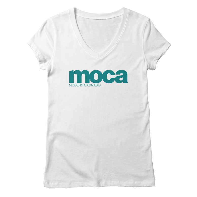 MOCA Logo Women's V-Neck by MOCA