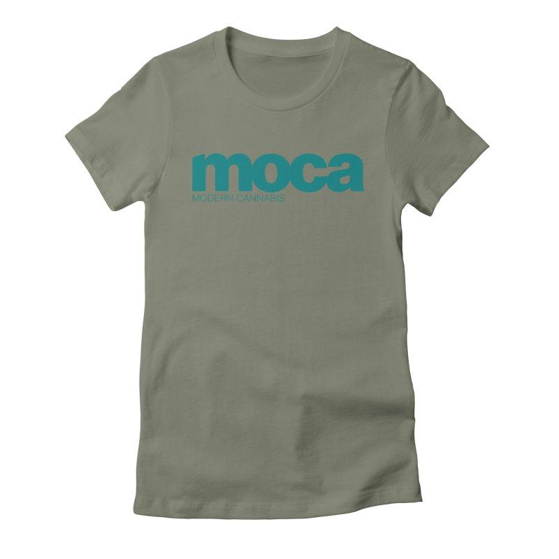 MOCA Logo Women's Fitted T-Shirt by MOCA