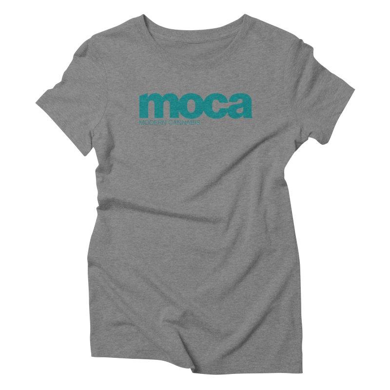 MOCA Logo Women's Triblend T-Shirt by MOCAshop's Artist Shop