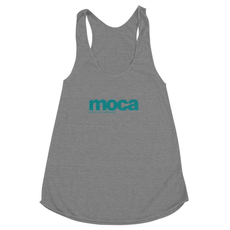 MOCA Logo Women's Racerback Triblend Tank by MOCAshop's Artist Shop