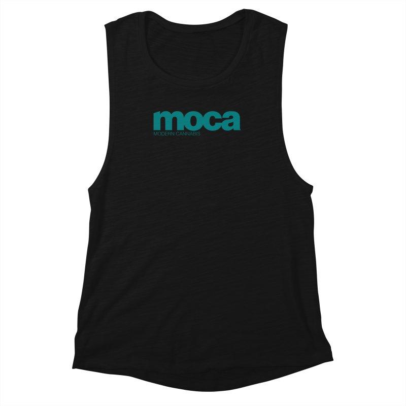 MOCA Logo Women's Muscle Tank by MOCA