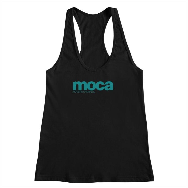 MOCA Logo Women's Racerback Tank by MOCA