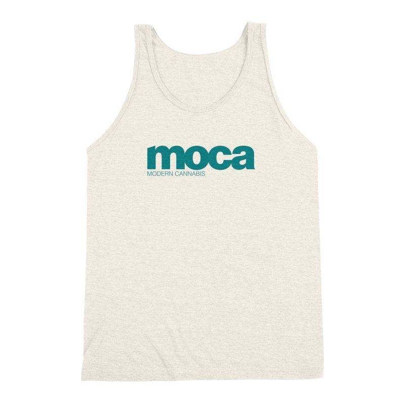 MOCA Logo Men's Triblend Tank by MOCAshop's Artist Shop