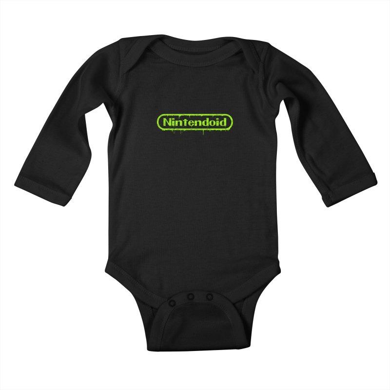 Nintendoid Kids Baby Longsleeve Bodysuit by UNDEAD MISTER