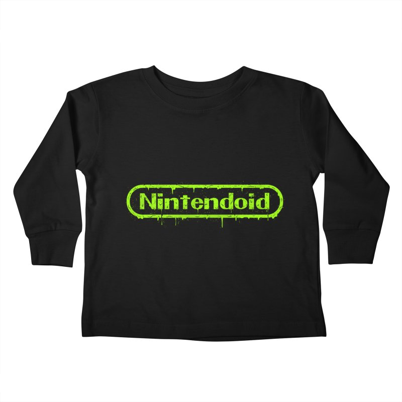 Nintendoid Kids Toddler Longsleeve T-Shirt by UNDEAD MISTER