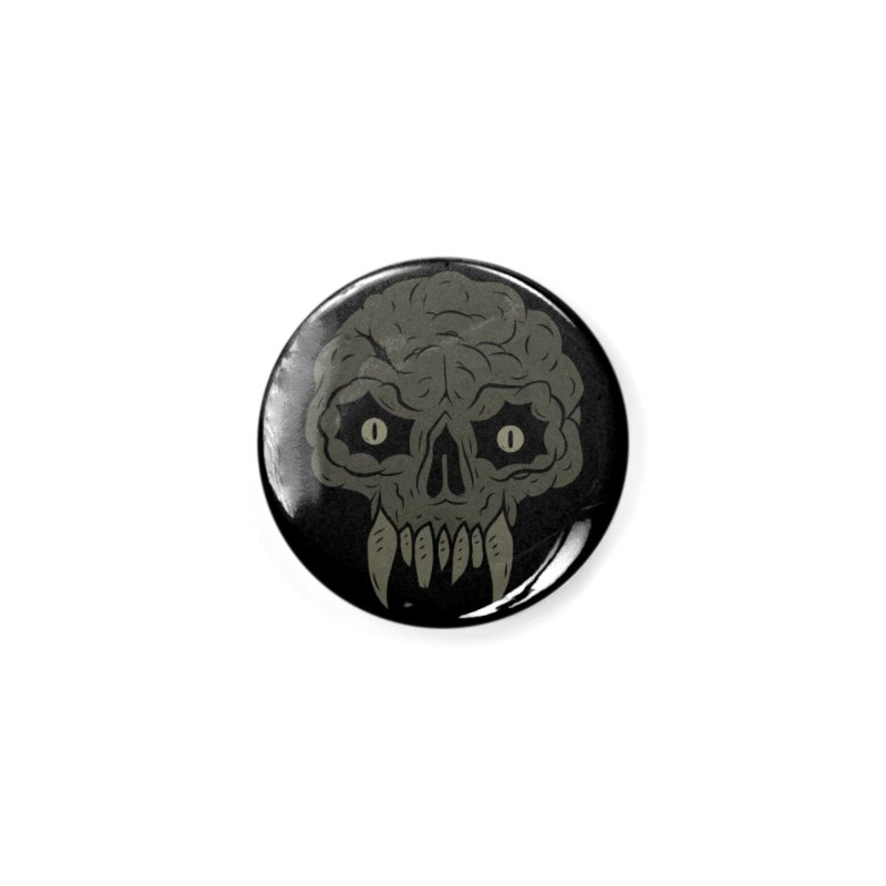 MAGIC SWAMP BLACK MANA SKULL Accessories Button by UNDEAD MISTER
