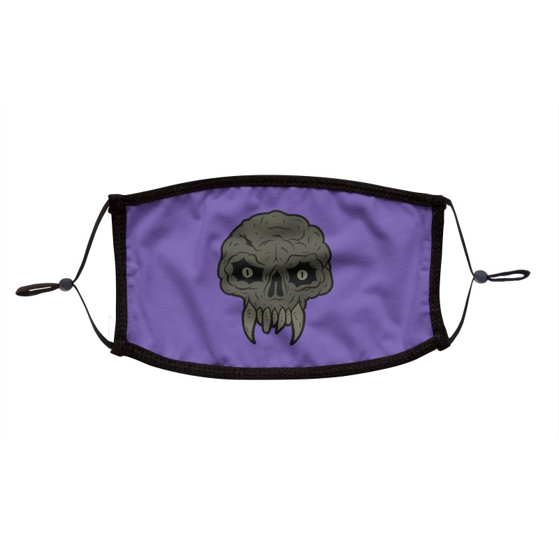MAGIC SWAMP BLACK MANA SKULL Accessories Face Mask by UNDEAD MISTER