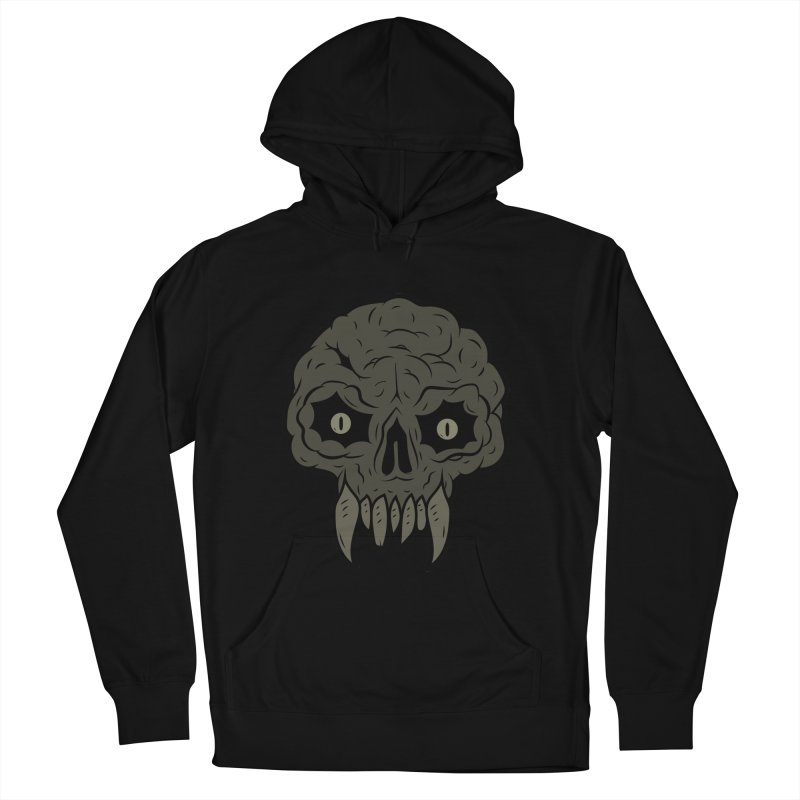 MAGIC SWAMP BLACK MANA SKULL Women's French Terry Pullover Hoody by UNDEAD MISTER