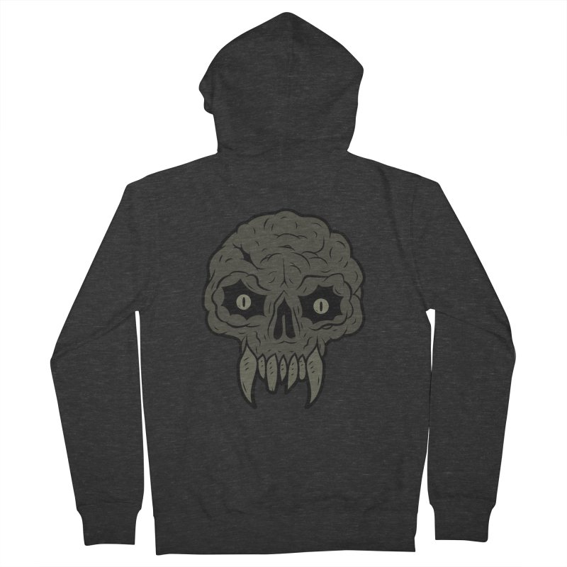 MAGIC SWAMP BLACK MANA SKULL Men's French Terry Zip-Up Hoody by UNDEAD MISTER