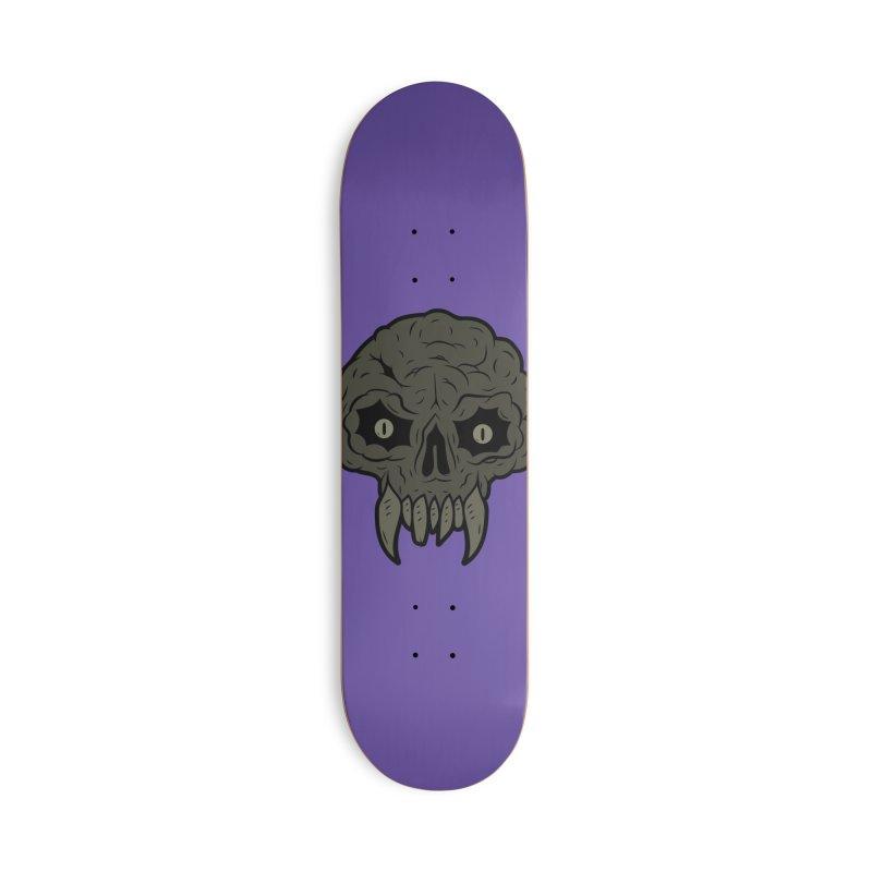 MAGIC SWAMP BLACK MANA SKULL Accessories Skateboard by UNDEAD MISTER