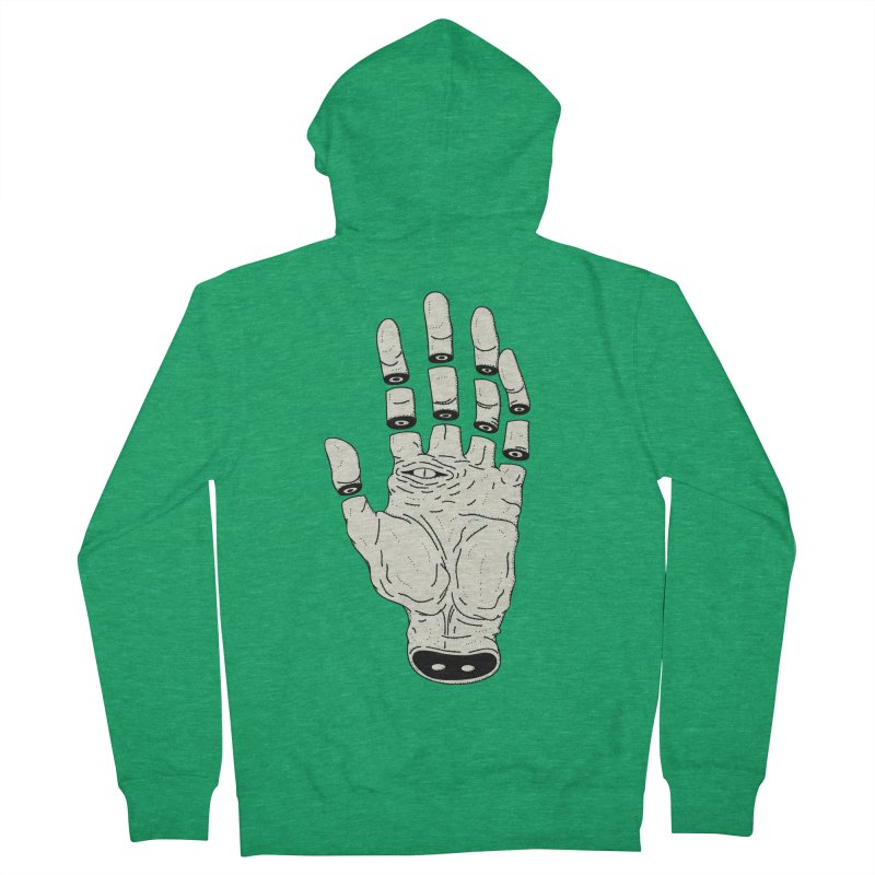 THE HAND OF DESTINY - LA MANO DEL DESTINO Men's French Terry Zip-Up Hoody by UNDEAD MISTER