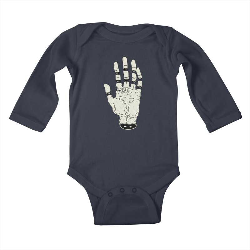 THE HAND OF DESTINY - LA MANO DEL DESTINO Kids Baby Longsleeve Bodysuit by UNDEAD MISTER