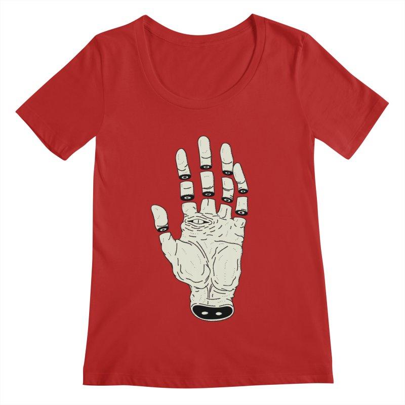 THE HAND OF DESTINY - LA MANO DEL DESTINO Women's Scoopneck by UNDEAD MISTER