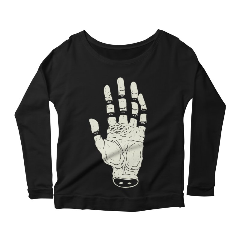 THE HAND OF DESTINY - LA MANO DEL DESTINO Women's Longsleeve Scoopneck  by UNDEAD MISTER