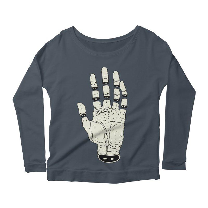 THE HAND OF DESTINY - LA MANO DEL DESTINO Women's Longsleeve Scoopneck  by UNDEAD MISTER