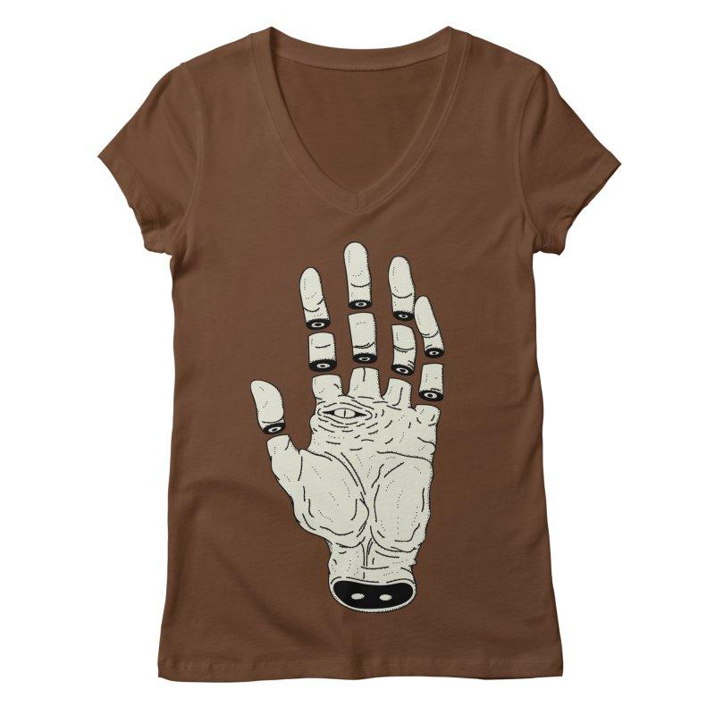 THE HAND OF DESTINY - LA MANO DEL DESTINO Women's V-Neck by UNDEAD MISTER