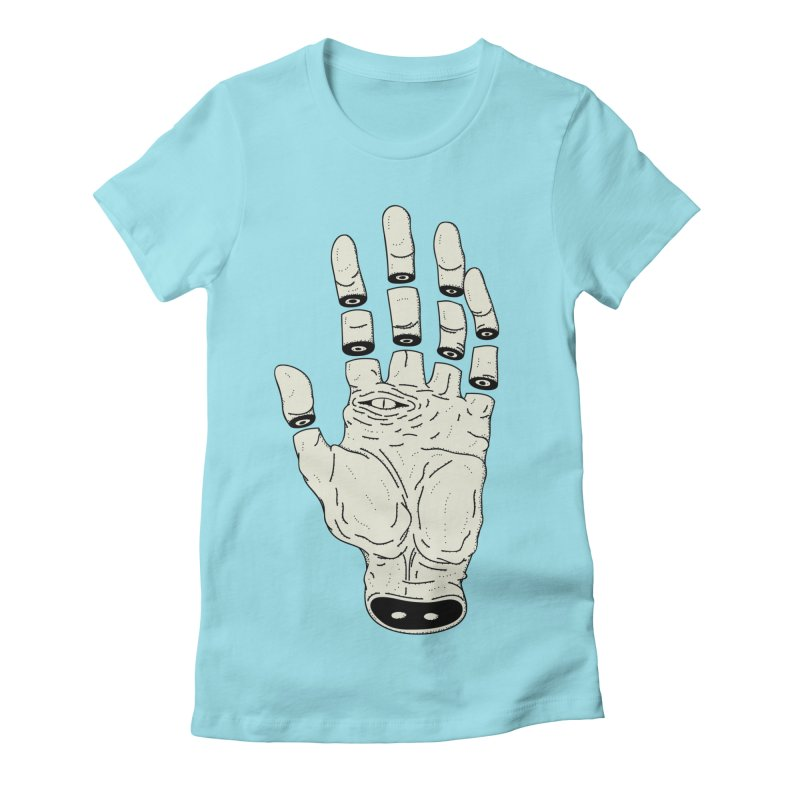 THE HAND OF DESTINY - LA MANO DEL DESTINO Women's Fitted T-Shirt by UNDEAD MISTER
