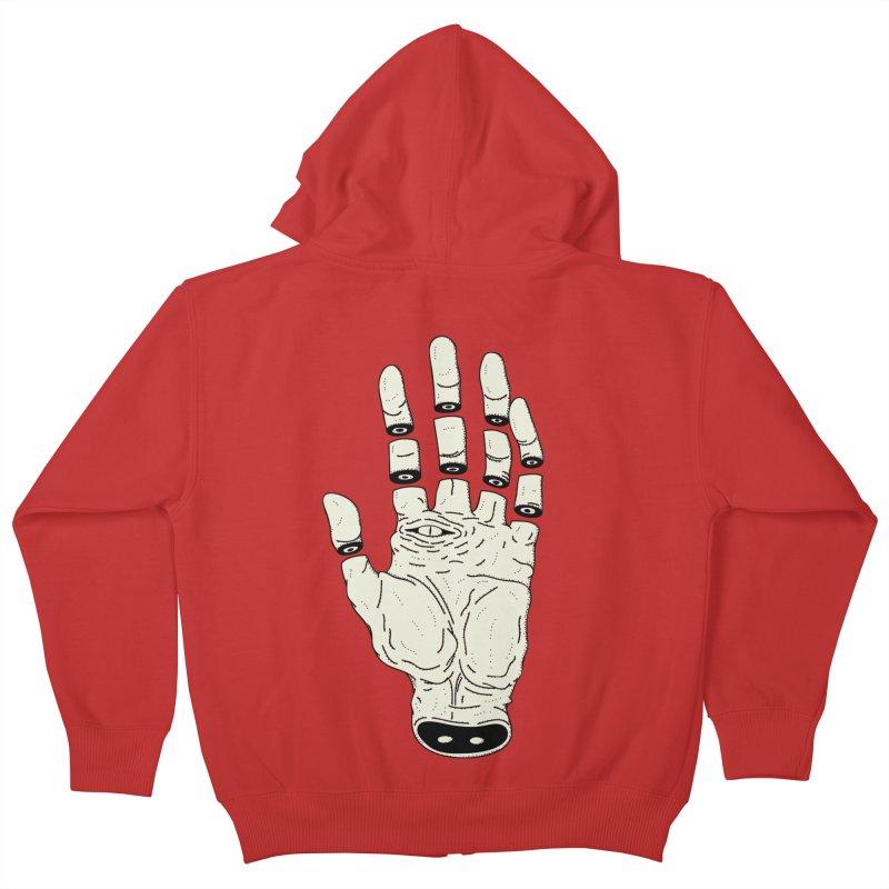 THE HAND OF DESTINY - LA MANO DEL DESTINO Kids Zip-Up Hoody by UNDEAD MISTER