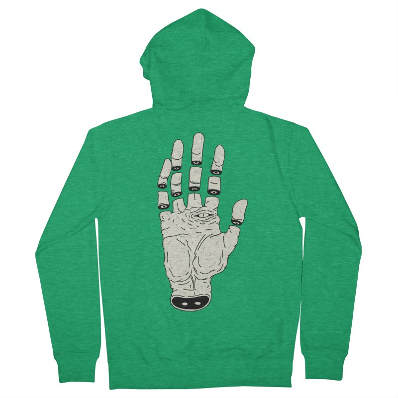 THE HAND OF ANOTHER DESTINY - LA MANO DEL OTRO DESTINO Men's French Terry Zip-Up Hoody by UNDEAD MISTER