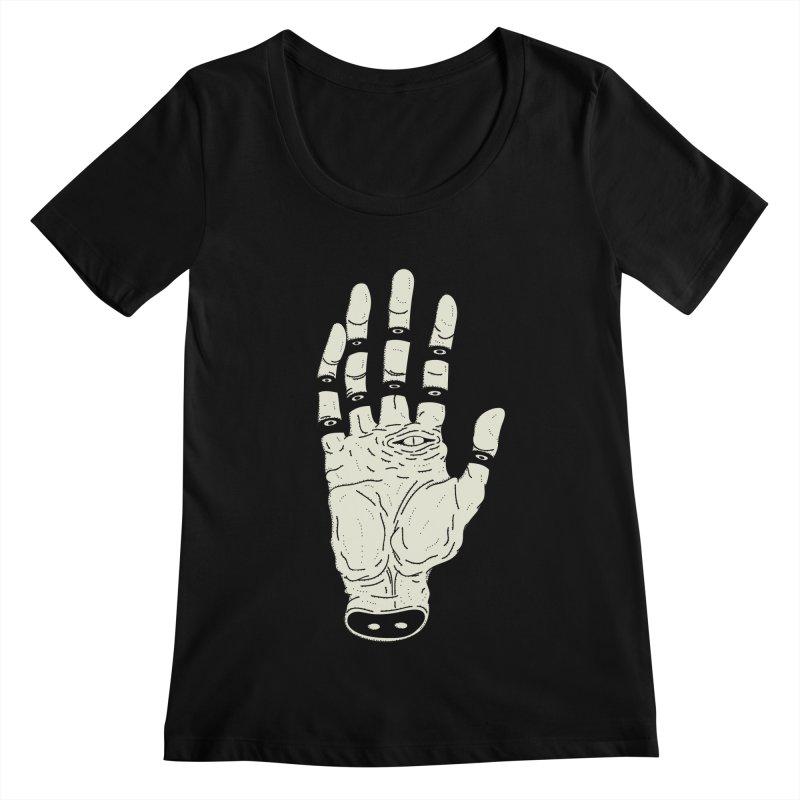 THE HAND OF ANOTHER DESTINY - LA MANO DEL OTRO DESTINO Women's Scoopneck by UNDEAD MISTER