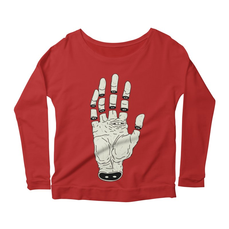 THE HAND OF ANOTHER DESTINY - LA MANO DEL OTRO DESTINO Women's Longsleeve Scoopneck  by UNDEAD MISTER
