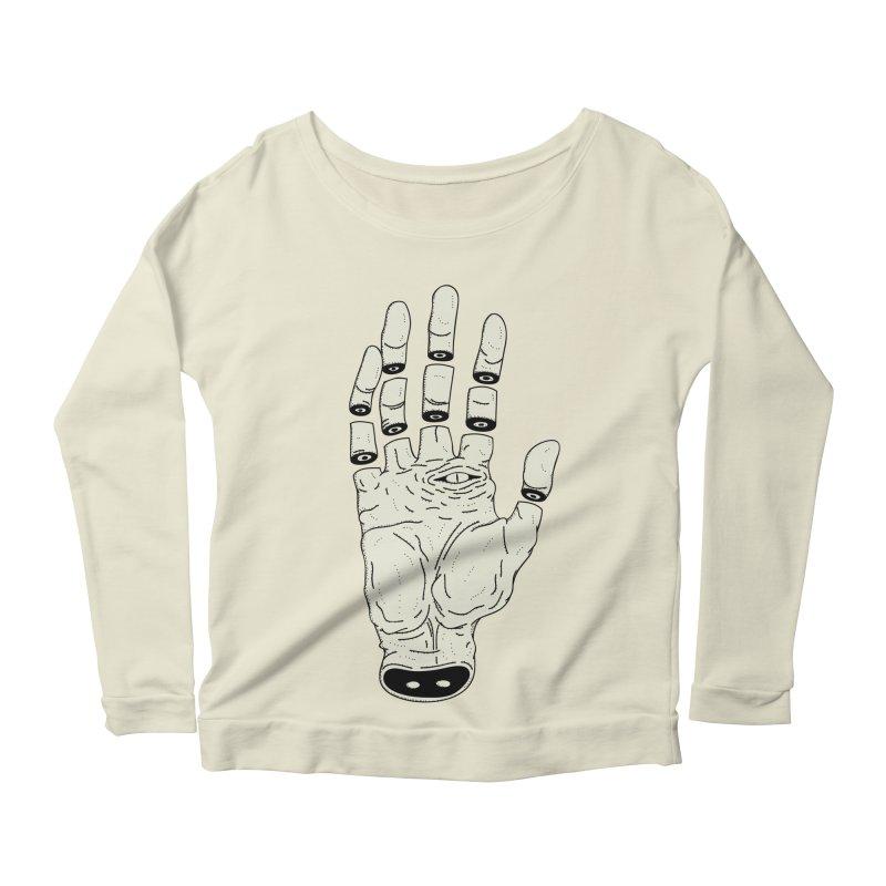 THE HAND OF ANOTHER DESTINY - LA MANO DEL OTRO DESTINO Women's Longsleeve Scoopneck  by UNDEAD MISTER