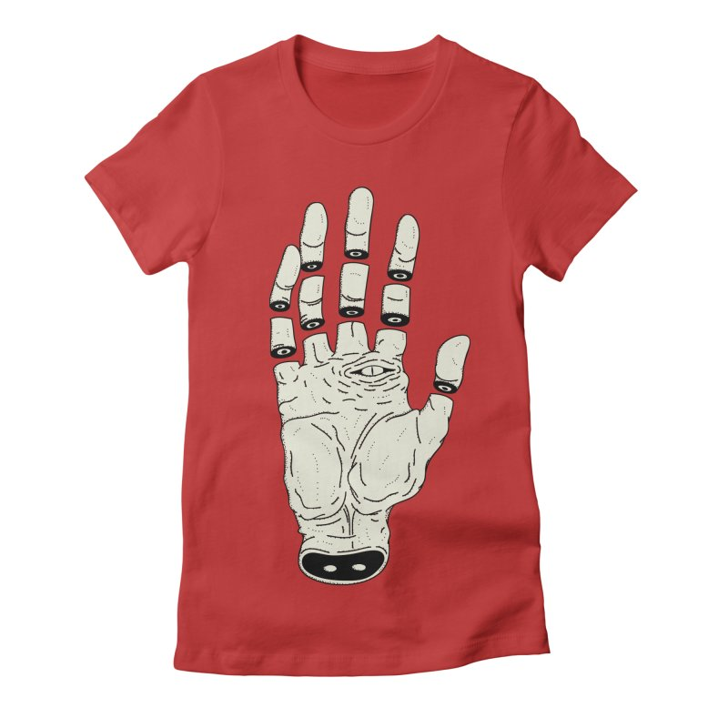 THE HAND OF ANOTHER DESTINY - LA MANO DEL OTRO DESTINO Women's Fitted T-Shirt by UNDEAD MISTER