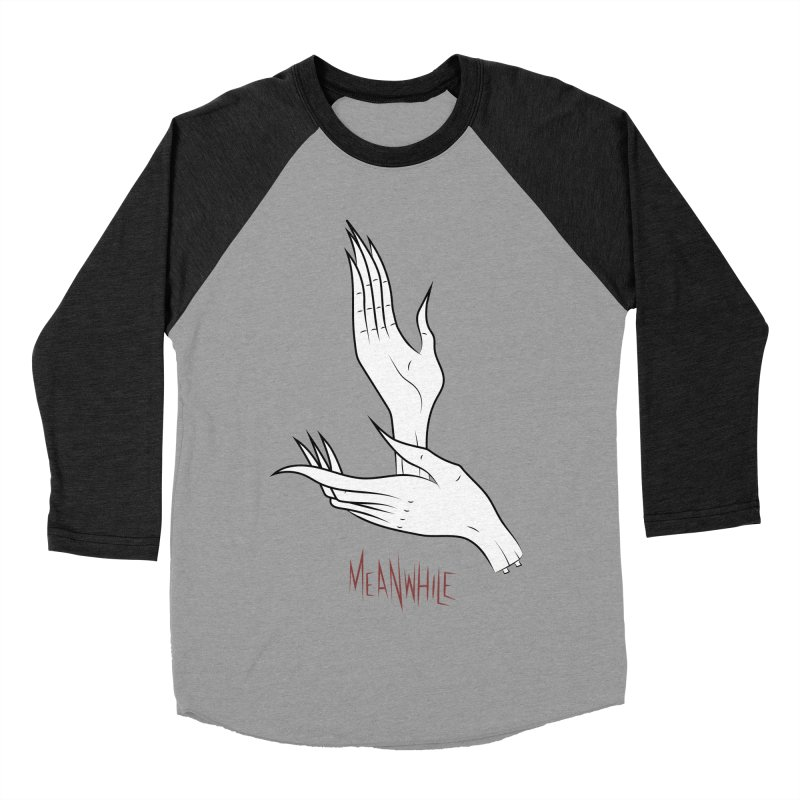 MEANWHILE Men's Baseball Triblend T-Shirt by UNDEAD MISTER