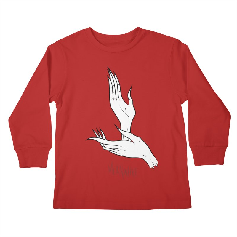 MEANWHILE Kids Longsleeve T-Shirt by UNDEAD MISTER