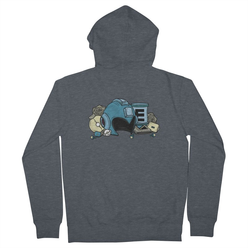 20XX HERO Men's French Terry Zip-Up Hoody by UNDEAD MISTER