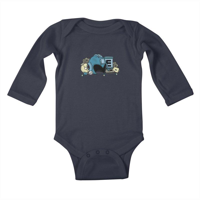 20XX HERO Kids Baby Longsleeve Bodysuit by UNDEAD MISTER
