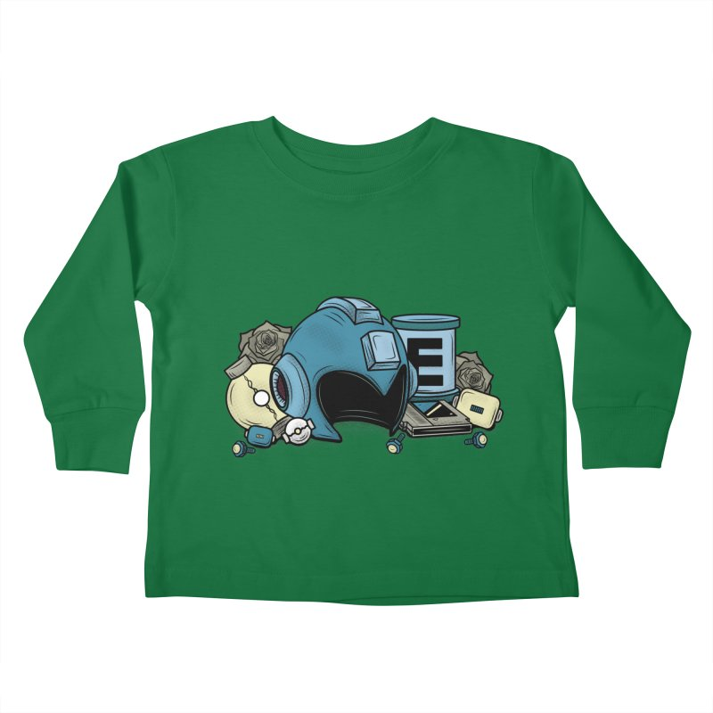 20XX HERO Kids Toddler Longsleeve T-Shirt by UNDEAD MISTER