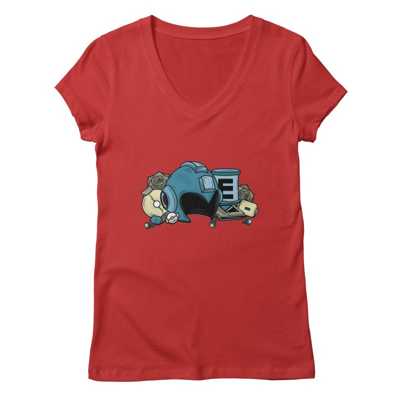 20XX HERO Women's V-Neck by UNDEAD MISTER