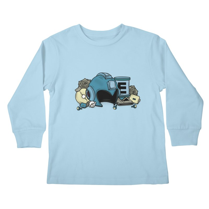 20XX HERO Kids Longsleeve T-Shirt by UNDEAD MISTER