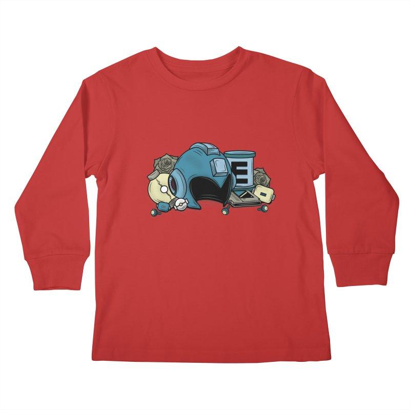 20XX HERO Kids Longsleeve T-Shirt by UNDEAD MISTER