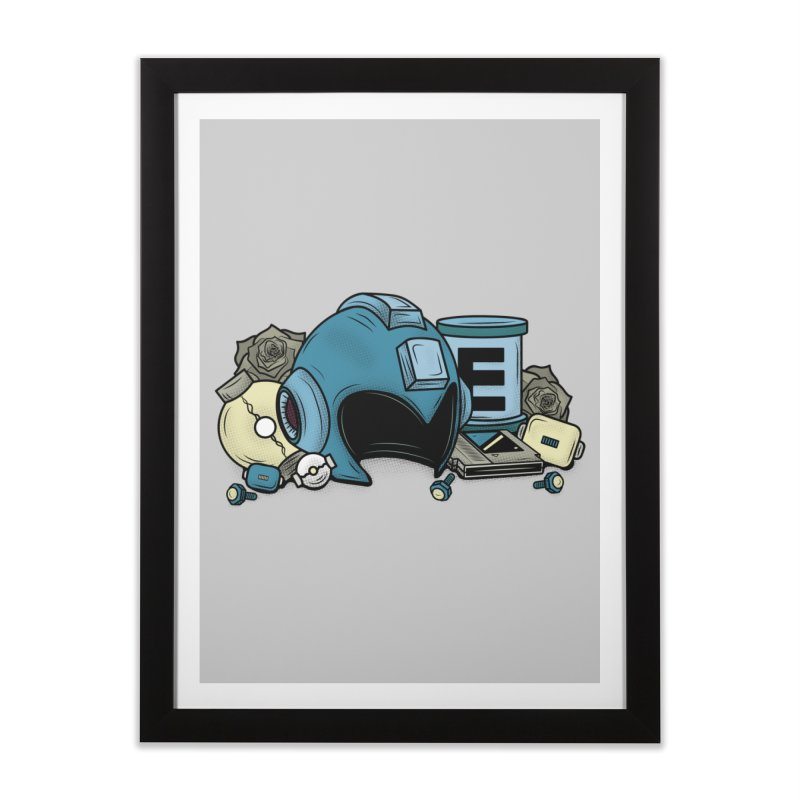 20XX HERO Home Framed Fine Art Print by UNDEAD MISTER