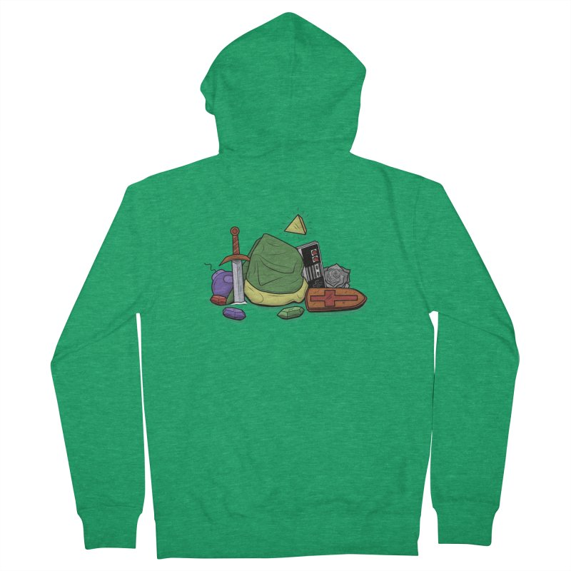 HYRULE LEGEND Men's French Terry Zip-Up Hoody by UNDEAD MISTER