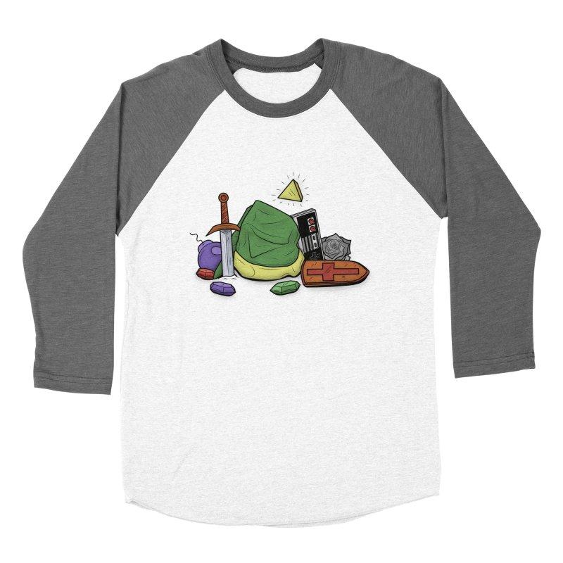 HYRULE LEGEND Women's Baseball Triblend T-Shirt by UNDEAD MISTER
