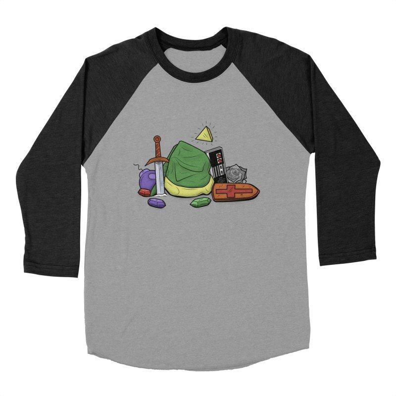 HYRULE LEGEND Men's Baseball Triblend T-Shirt by UNDEAD MISTER