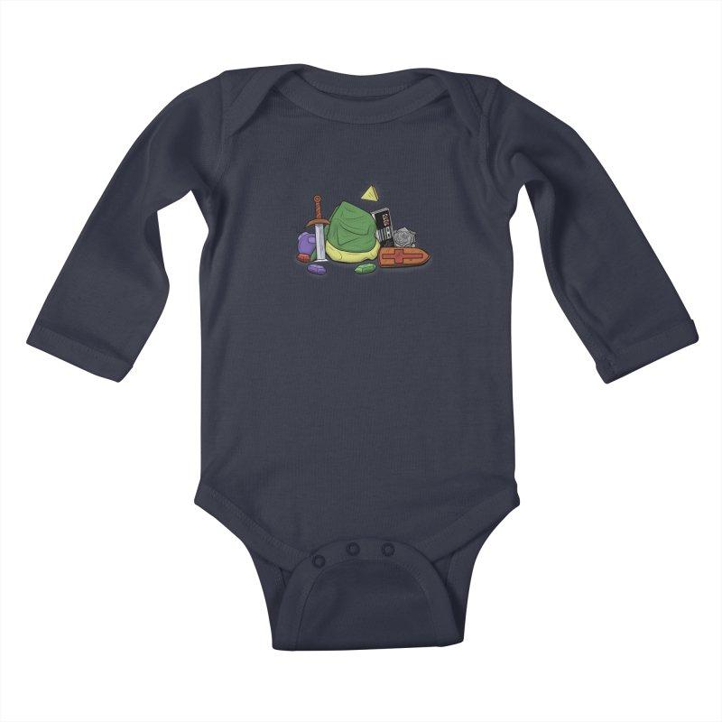 HYRULE LEGEND Kids Baby Longsleeve Bodysuit by UNDEAD MISTER