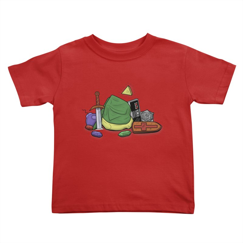HYRULE LEGEND Kids Toddler T-Shirt by UNDEAD MISTER