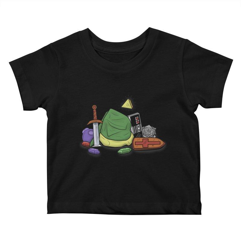 HYRULE LEGEND Kids Baby T-Shirt by UNDEAD MISTER