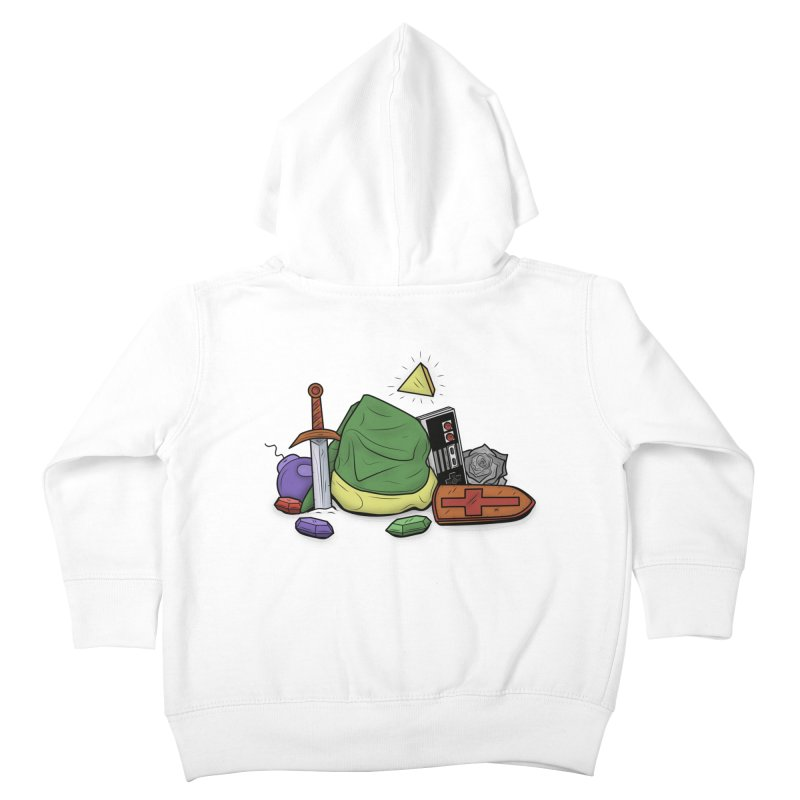 HYRULE LEGEND Kids Toddler Zip-Up Hoody by UNDEAD MISTER