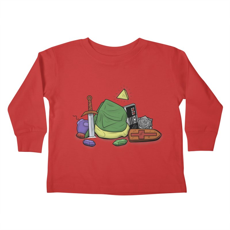 HYRULE LEGEND Kids Toddler Longsleeve T-Shirt by UNDEAD MISTER