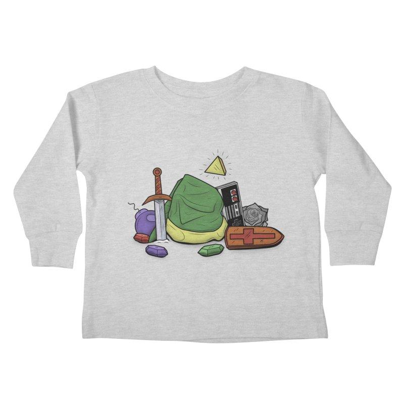 HYRULE LEGEND Kids Toddler Longsleeve T-Shirt by UNDEAD MISTER